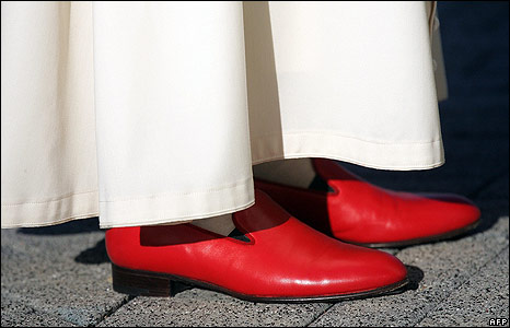 Papal Red Shoes